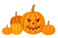 Halloween pumpkins. Vector illustration. Stock Photography