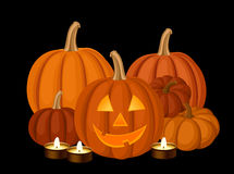 Halloween pumpkins. Vector illustration. Stock Images