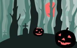 Halloween pumpkins vector illustration. Stock Image