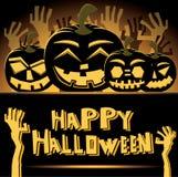 Halloween Pumpkins. Vector Illustration. Royalty Free Stock Photo