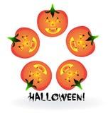 Halloween pumpkins vector. Teamwork. Fear concept Stock Image
