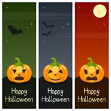 Halloween Pumpkins Vertical Banners [2] Stock Images