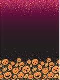 Halloween pumpkins vertical decor background Royalty Free Stock Photo