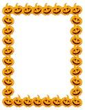 Halloween pumpkins vertical frame Stock Photography