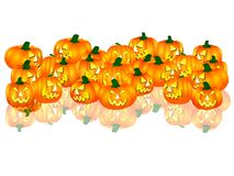 Halloween pumpkins on white background. A illustration of Halloween pumpkins on white background Royalty Free Stock Images
