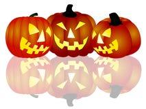 Halloween pumpkins on white background. Illustration of Halloween pumpkins on white background Royalty Free Stock Image