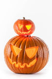 Halloween pumpkins on white Royalty Free Stock Photos