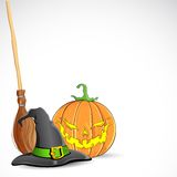 Halloween Pumpmik Stock Photography