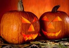 Halloween pumpor Royaltyfri Bild