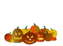halloween pumpor Royaltyfria Bilder