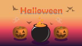 Halloween purple background illustration stock illustration