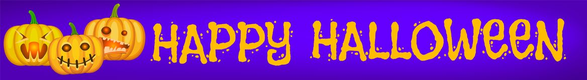 Halloween purple banner royalty free illustration