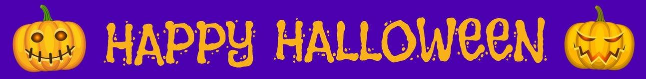 Halloween purple banner stock illustration