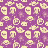 Halloween Purple Pattern Royalty Free Stock Photo