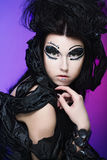 Halloween queen. Witn bright make up Stock Images