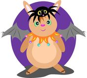 Halloween Rabbit and Spider Friend Royalty Free Stock Image