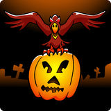 Halloween-Rabe Stockbild