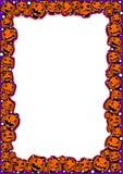 Halloween-Rahmen mit Kürbisen von verschiedenen Gefühlen stock abbildung