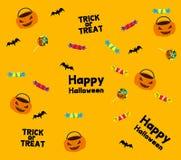 Halloween-Rahmen Retro- - Illustration Stockfotografie
