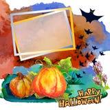 Halloween-Rahmenkarte Stockfotos
