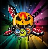 Halloween Rainbow Disco Music Background Stock Photos