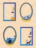 Halloween rama ilustracja wektor