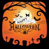 Halloween-Rand verlässt Kürbise Lizenzfreies Stockbild