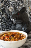 Halloween Rat Eating Chili Stock Photography