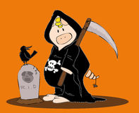 Halloween Reaper. Stock Photo