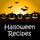 Halloween Recipes Represents Trick Or Treat And Celebration Stock Photography