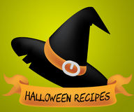 Halloween Recipes Shows Trick Or Treat And Autumn Royalty Free Stock Photography