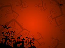 Halloween red background for postcards