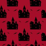 Halloween red seamless pattern. Royalty Free Stock Image