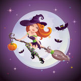 Halloween redhead girl Royalty Free Stock Photos
