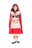 Halloween: Redi Riding Hood Holding Out Basket royalty free stock images