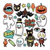 Halloween-reeks flarden in beeldverhaal grappige stijl Stock Fotografie