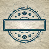 Halloween relative stamp pattern Stock Photography