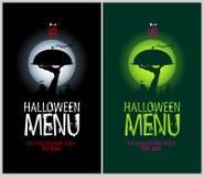 Halloween restaurangmeny. Fotografering för Bildbyråer