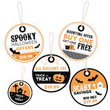 Halloween Retail Price Labels Royalty Free Stock Image