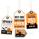 Halloween Retail Price Labels Stock Images
