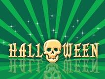 Halloween retro ilustração stock