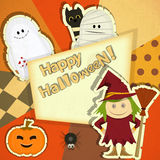 Halloween Retro Card Royalty Free Stock Images