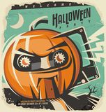 Halloween retro invitation concept Stock Image