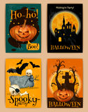 Halloween retro posters Royalty Free Stock Photography