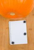 Halloween-Rezepte Lizenzfreie Stockfotos