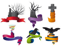 Halloween ribbon collection Stock Image