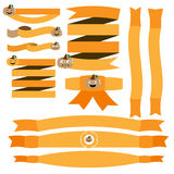 Halloween ribbon with pumpkin vector. Illustrator 10 vector illustration