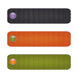 Halloween ribbon set with  buttons. black, orange, green. Stock Photo