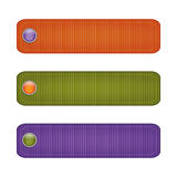 Halloween ribbon set with  buttons. green, orange, purple Stock Images