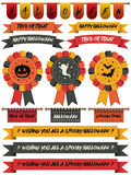 Halloween ribbons Stock Image
